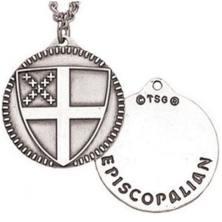 Episcopal Shield Necklace Sterling Silver