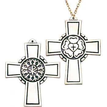 Luther's Seal Pectoral Cross Necklace 3 Inch