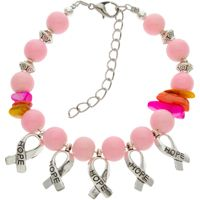 Breast Cancer Hope Ribbon Bracelet