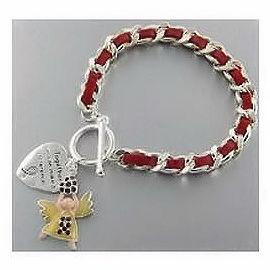 Cancer Awareness Angel Toggle Bracelet