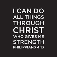 I Can Do All Things Through Christ Napkin (Pkg of 20)