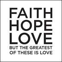 Faith Hope Love Napkin (Pkg of 20)