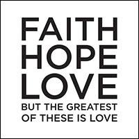 Faith Hope Love Napkin