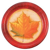 Fall Breeze Dinner Paper  Plates (Pkg of 8)