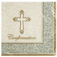 Confirmation Beverage Napkins (Pkg of 16)