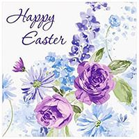 Happy Easter Lilac Lunch Napkins (Pkg of 16)
