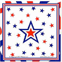 Patriotic Star Paper Napkins (Pkg of 40)