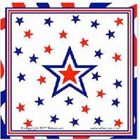 Star Patriotic Napkins Pack of 40