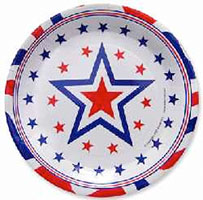 Stars Patriotic Party Plates 16 Plates Double Pack