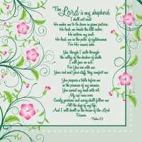 Psalm 23 Napkins