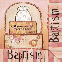 Baptism Luncheon Napkins Palm 127