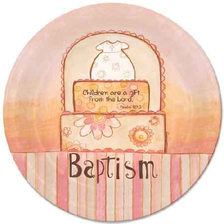 Baptism Paper Plates Bible Quote Psalm 127
