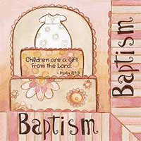 Baptism Luncheon Napkins Psalm 127
