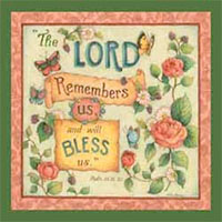 The Lord Remembers Luncheon Napkins - Psalm 115