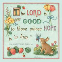 Hope Is In Him Luncheon Napkins Lam. 3