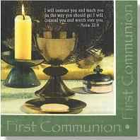 First Communion Luncheon Napkins (Pkg of 20)