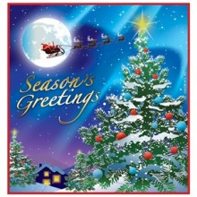 Christmas Season's Greetings Napkins (Pkg of 16)