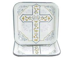 Christian Cross Plates Diner Size (Pkg of 8)