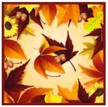 Fall Leaves Luncheon Napkin<br> (Pack of 16)