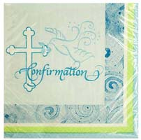 Confirmation Cross Beverage Napkins (Pkg of 16)