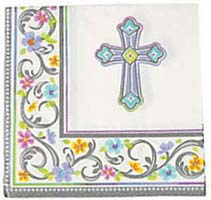 Cross Luncheon Napkins - Christian Events (Pkg of 36)