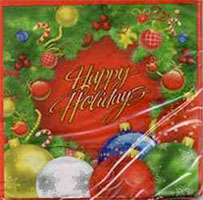 Happy Holidays Luncheon Napkins (Pkg of 16)
