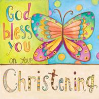 God Bless You Christening Luncheon Napkins