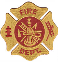 Fire Department Logo Embroidered Patch