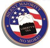 Silent Majority Liberty Tea Party Lapel Pin