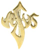 Jesus  in Cross Lapel Pin Gold