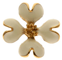 White Dogwood Flower Pin & Card