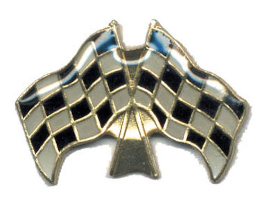 Double Checkered Flag Pin