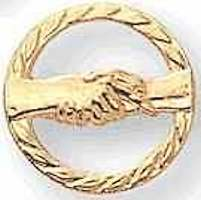 Handshaking Working Together Lapel Pin
