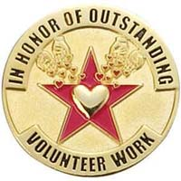 Outstanding Volunteer Work Lapel Pins