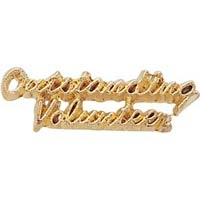 Outstanding Volunteer Lapel Pin Gold