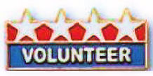 Volunteer Lapel Pins 4 Star