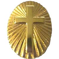 Gold Sunburst Cross Pin