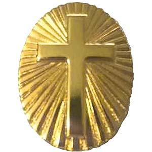 Gold Sunburst Cross Pin