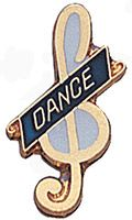Dance Music Pin Gold