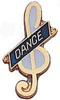 Dance Music Pin Gold