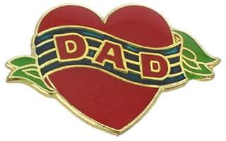 Dad Heart Pin