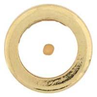 Round Gold Mustard Seed Pin