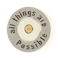 All Things Are Possible Silver Mustard Seed Pin