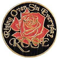 Rose Christian pin