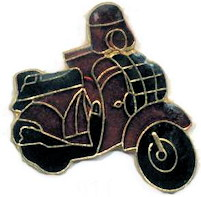 Motorscooter Lapel Pin