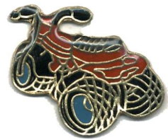 ATV Lapel Pin 3 Wheels