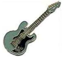 Blue Guitar Lapel Pin