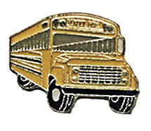 Yellow School Bus Pin