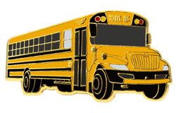 Yellow School Bus Lapel Pin