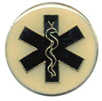Emergency Medical Tech Lapel Pin Round